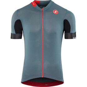 Castelli Aero Race 4.1 Solid FZ Jersey Herren light steel/blue